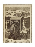 Machine for the Displacement of Water Giclee Print by Agostino Ramelli
