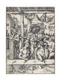 The Men's Bath, C. 1496-1497 Wydruk giclee autor Albrecht Dürer