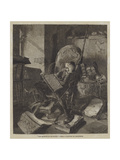 Don Quixote in His Study Giclee Print by Adolf Schreyer