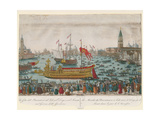 The Doge of Venice and the Senate Travel to the Lido Aboard the Bucentaur on Ascension Day, 1795 Giclee Print by A. Lazzari