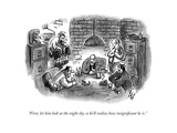 """First, let him look at the night sky, so he'll realize how insignificant ..."" - New Yorker Cartoon Premium Giclee Print by Frank Cotham"
