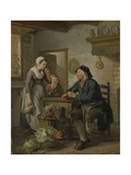 Morning Visit, 1796 Giclee Print by Adriaen de Lelie