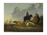 Peasants and Cattle by the River Merwede, C.1655-60 Giclee Print by Aelbert Cuyp