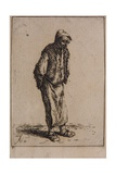 Peasant with His Hands Behind His Back, C.1647 Giclee Print by Adriaen Jansz. Van Ostade