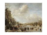 Winter Landscape, 1645 Giclee Print by Aert van der Neer