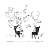 """""""Well, I didn't have any more wall space, and I was also tired of being ba - New Yorker Cartoon Premium Giclee Print by Liana Finck"""