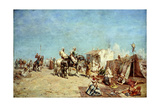 An Arab Encampment Reproduction procédé giclée par Alberto Pasini