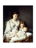 Maternal Affection Giclee Print by Adolphe Jourdan