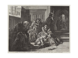 Waiting for the Verdict, from the Exhibition of the Royal Academy Giclee Print by Abraham Solomon