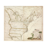 America's First National Map, 1784 Giclee Print by Abel Buell