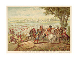 Louis XIV of France Crossing the Rhine, 1672 Giclee Print by Adam Frans van der Meulen
