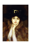 Portrait of an Elegant Lady Giclee Print by Albert Lynch