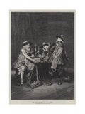 The Game of Chess Giclee Print by Adolphe Alexandre Lesrel