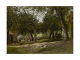 Landscape with a Farmyard, 1830 Giclee Print by Adolphe-felix Cals