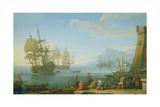 Mediterranean Harbour Scene Giclee Print by Adrien Manglard