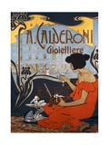 Advertising Poster for Calderoni Jewelers in Milan Giclee Print by Adolfo Hohenstein