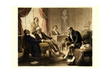 Ludwig Van Beethoven Playing the Piano Giclee Print by Albert Graefle