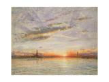 Sunset, Venice, 1902 Giclee Print by Albert Goodwin
