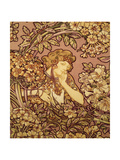 Young Girl with Flowers, 1900 Giclee Print by Alphonse Mucha