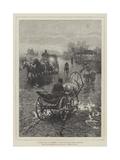 A Polish Road in November Giclee Print by Alfred von Wierusz-Kowalski