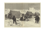 The North Pole Expedition, a Sledge Party Camping for the Night Giclee Print by Alfred William Hunt