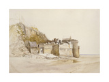 Mont St Michel: the Outer Gate, C. 1876 Giclee Print by Alfred William Hunt