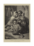 Kabyle Orange Sellers in Algiers Giclee Print by Alfred W. Elmore