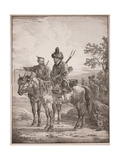 Two Bashkirs on Horseback; or Two Cossacks on Horseback, 1820 Giclee Print by Alexander Orlowski