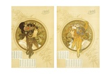 Byzantine Heads; Tetes Byzantines, 1900 Giclee Print by Alphonse Mucha