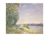 Normandy, the Water Path in the Evening, Sahurs, 1894 Giclee Print by Alfred Sisley