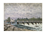 Molesey Weir Hampton Court, 1874 Giclee Print by Alfred Sisley