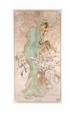 Winter; Hiver, C.1896 Giclee Print by Alphonse Mucha