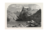 Swiss School. Lake Lucerne, 1855 Giclee Print by Alexandre Calame