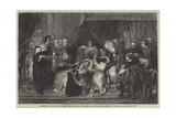 The Death Bed of Robert, King of Naples Giclee Print by Alfred W. Elmore