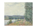 The Seine at Bouille, a Gust of Wind, 1894 Giclee Print by Alfred Sisley