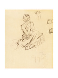 Study of a Seated Woman, 1897 Giclee Print by Alphonse Mucha