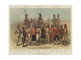 Types of the Bengal Army Giclee Print by Alfred Crowdy Lovett