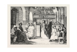 Exhibition of the Royal Academy the Pharisee and Publican, 1851 Giclee Print by Alfred Rankley