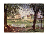 Villeneuve-La-Garenne, or Village by the Seine, 1872 Giclee Print by Alfred Sisley
