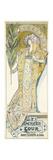 Sarah Bernhardt, American Tour, 1895 Giclee Print by Alphonse Mucha