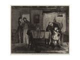 Scene from Tennyson's 'Dora' Giclee Print by Alexander Hohenlohe Burr