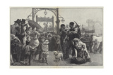 Crossing the Mersey, the Steam-Ferry Between Liverpool and Birkenhead Giclee Print by Alfred Edward Emslie