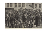 Departure of Irish Emigrants at Clifden, County Galway Giclee Print by Aloysius O'Kelly