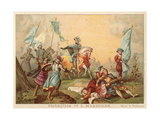 Francis I of France at the Battle of Marignano, 1515 Giclee Print by Alexandre Evariste Fragonard