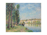 The Loing at Moret; Le Loing a Moret, 1885 Giclee Print by Alfred Sisley
