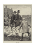 The Goose Club Committee Giclee Print by Alfred Edward Emslie