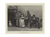 Aunt Chloe's Visit Giclee Print by Alfred Edward Emslie