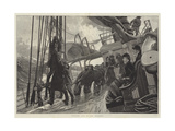 Hoisting Sail in the Atlantic Giclee Print by Alfred Edward Emslie