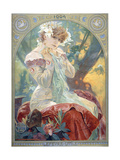 Sarah Bernhardt in the Role of Princess Lointaine, 1904 Giclee Print by Alphonse Mucha