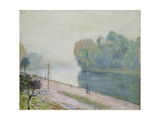 A Bend in the River Loing, 1896 Giclee Print by Alfred Sisley